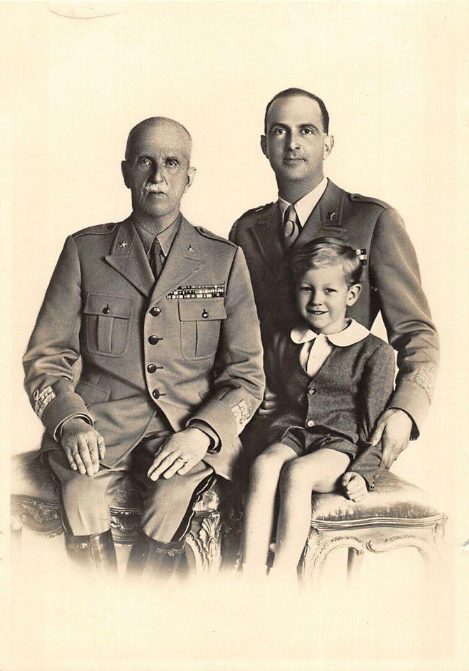 Victor-Emmanuel III, Humbert II et le prince Victor-Emmanuel