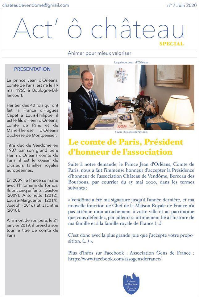 Bulletin de l'association de sauvegarde du château de Vendôme