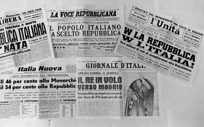 Journaux italiens au lendemain du référendum