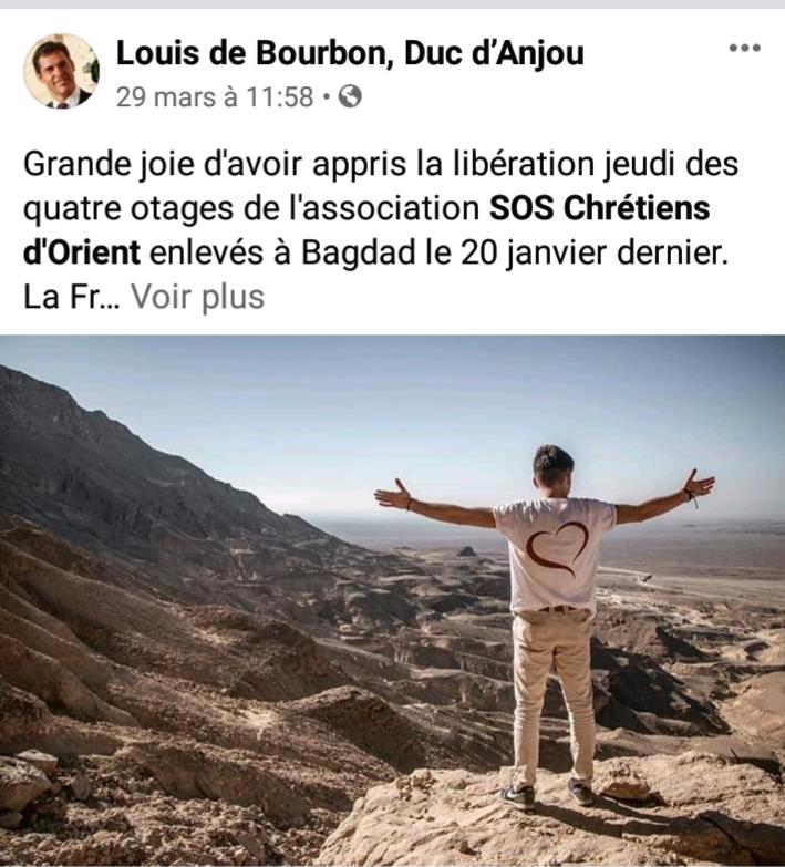 Page facebook du prince Louis-Alphonse de Bourbon