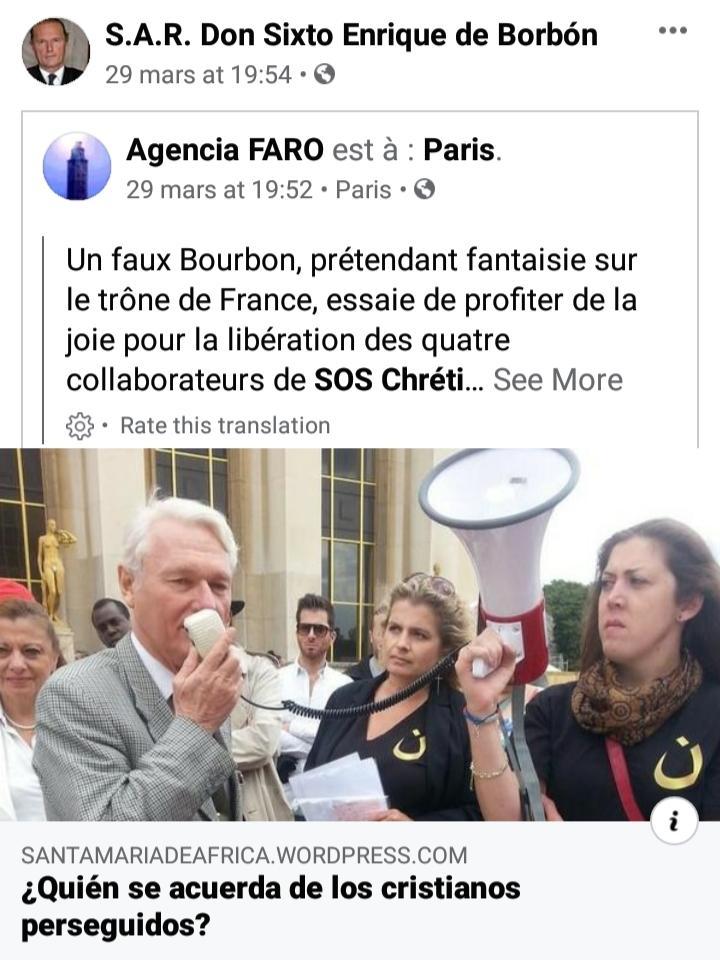 Page Facebook du prince Sixte-Henri