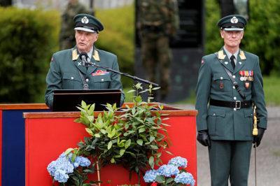 Le roi de Norvège lisant son discours pour le 8 mai photo Lise Åserud, NTB scanpix