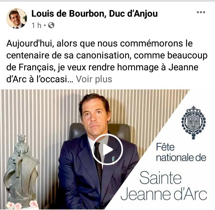 Page officielle Facebook de Louis de Bourbon
