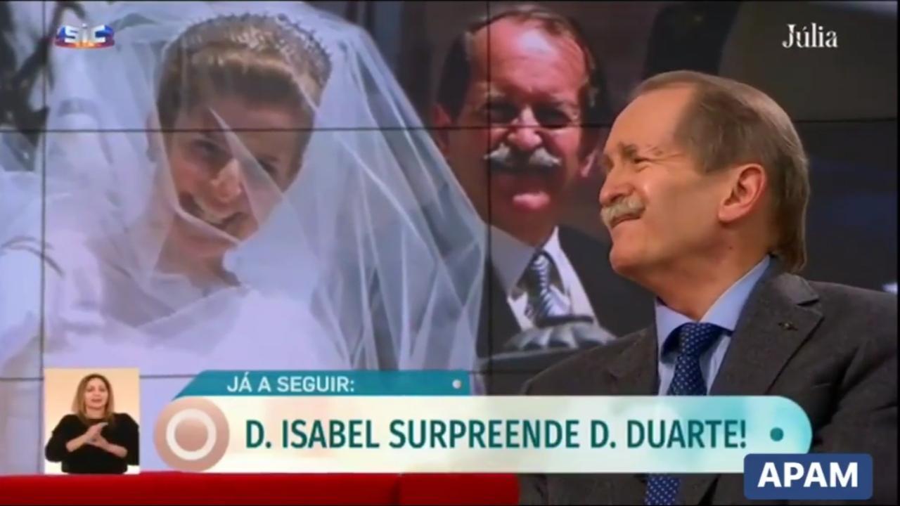 Mariage en 1995 du prétendant au trône du Portugal