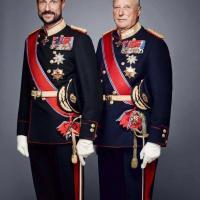 Le prince Haakon et le roi Harald V