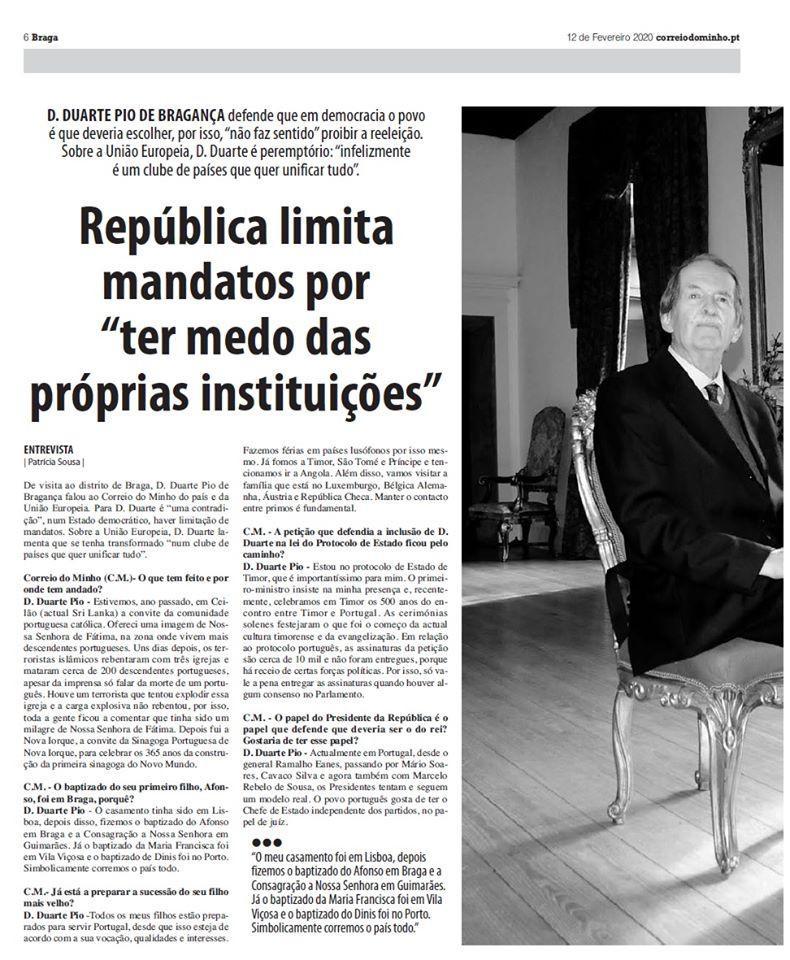 Interview de Dom Duarte de Bragance