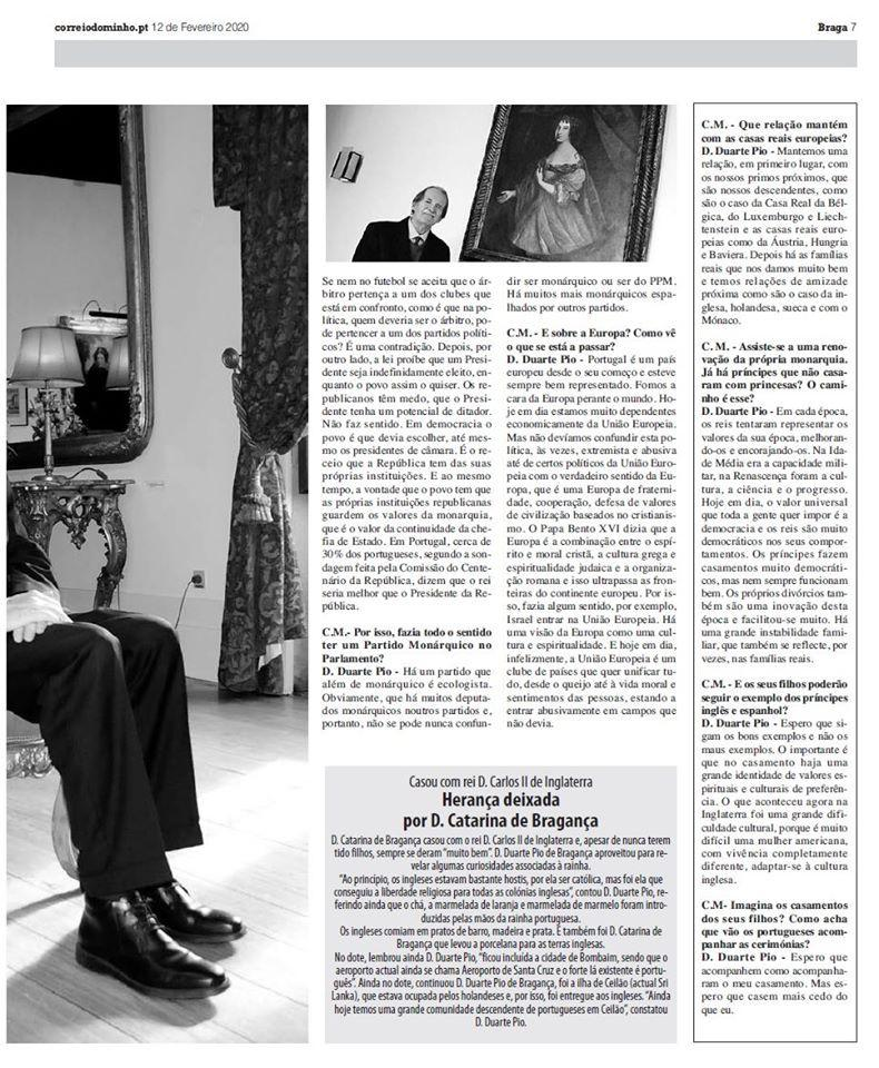 Interview Dom Duarte de Bragance