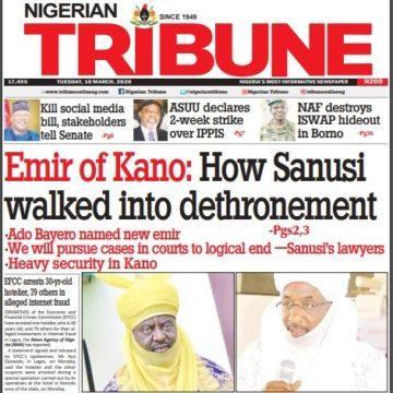 La presse nigériane évoque la destitution de l'Emir