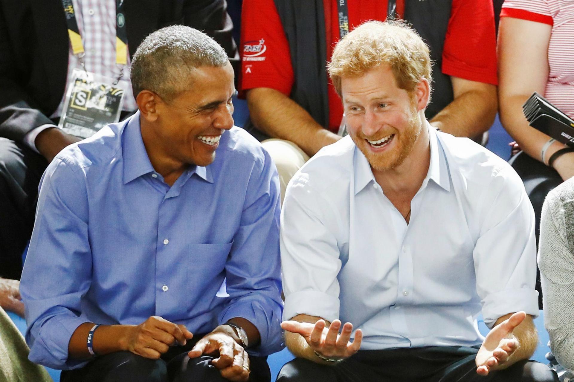 Barack obama et le prince harry