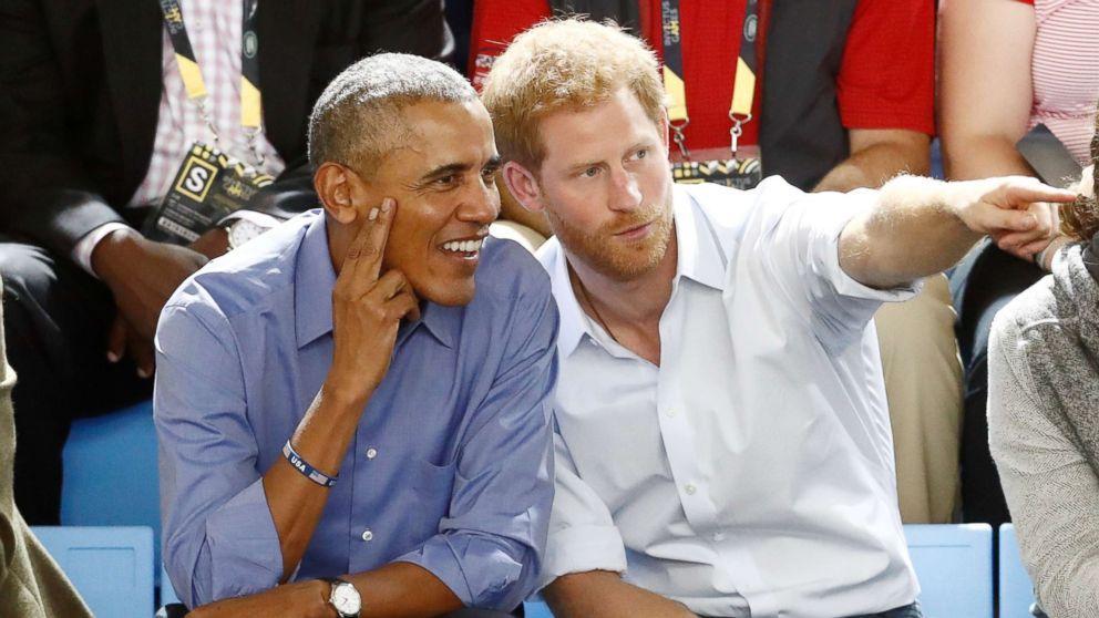 Président Barack obama  et le prince Harry