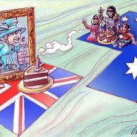 Caricature humoristique sur l eventuelle secession de l australie