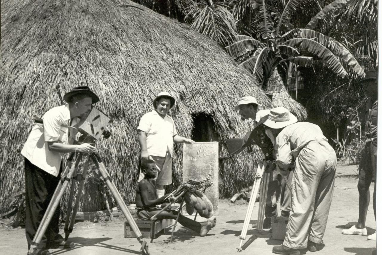 Colonisation belge tournage d un film
