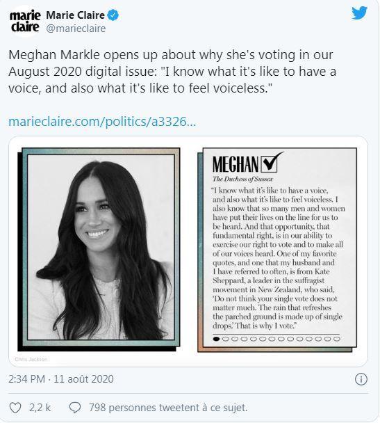 Compte twitter de marie claire aux usa extrait de l entretien avec meghan markle