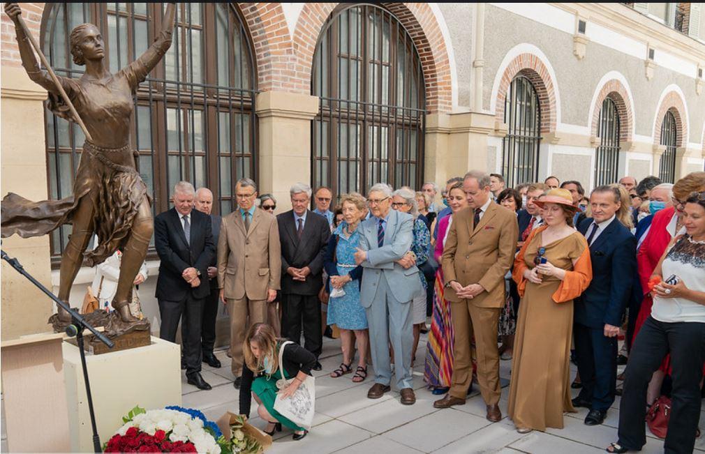 Comte de paris a l inauguration de jeanne d arc