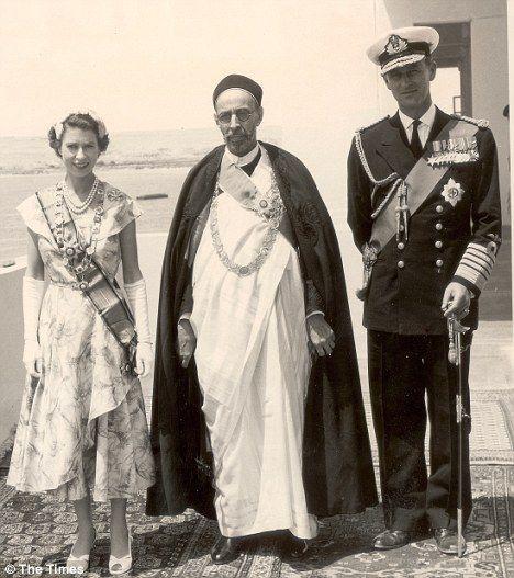 Elizabeth ii idriss ier philipp mountbatten 1954