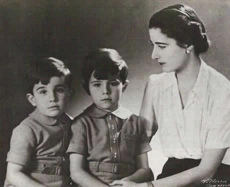 Emmanuelle de dampierre et ses deux enfants