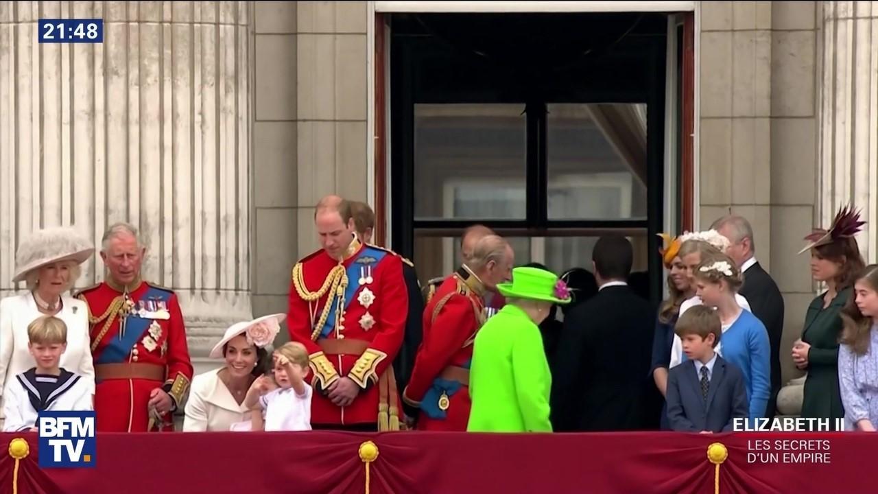 Famille royale au balcon de buckingham