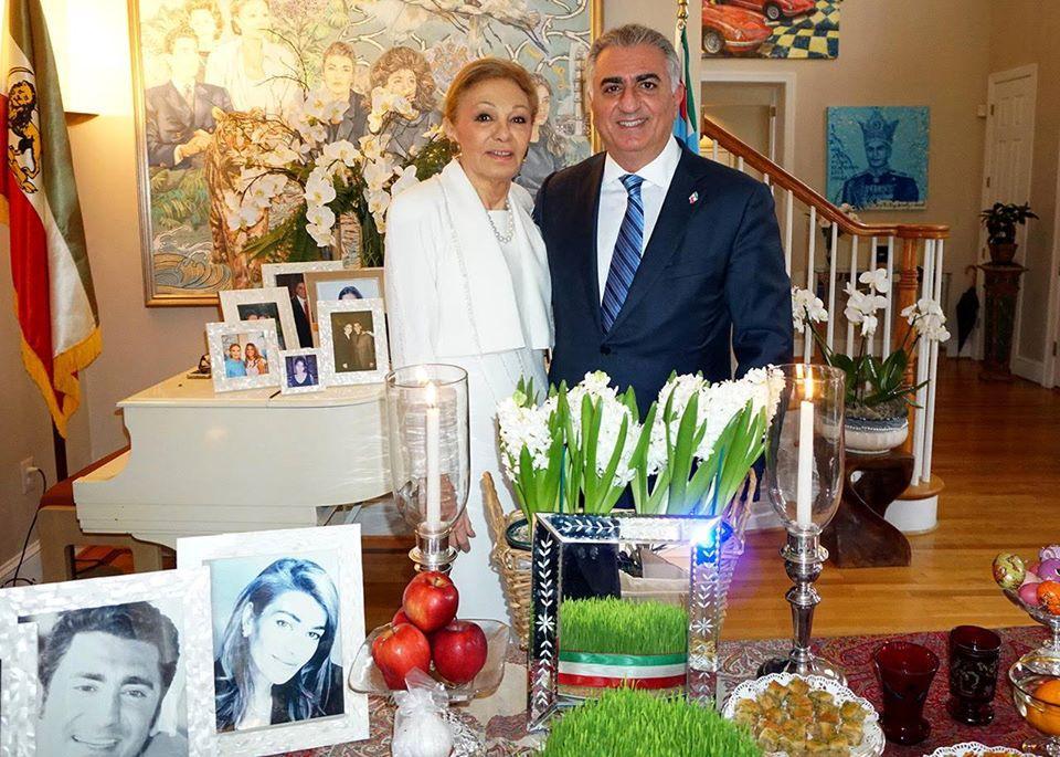 Farah pahlavi et son fils reza shah pahlavi ii 2018 photo page facebook farah pahlavi