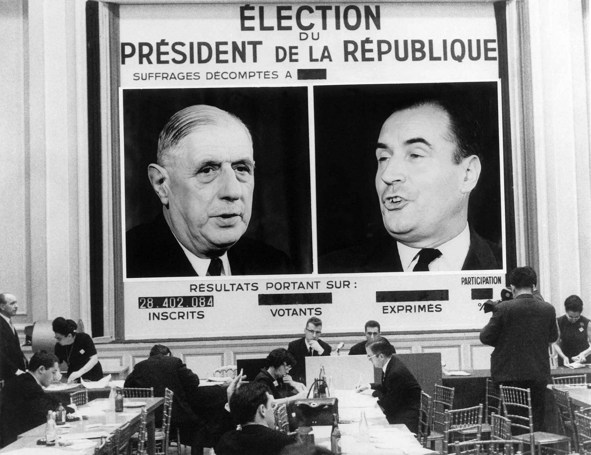 General gaulle elections de 1965