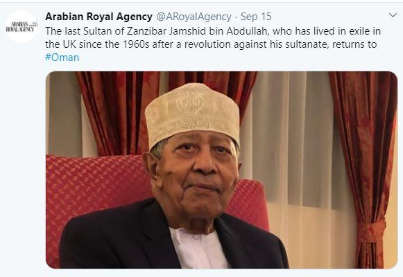 Jamshid bin abdullah fin de l exil