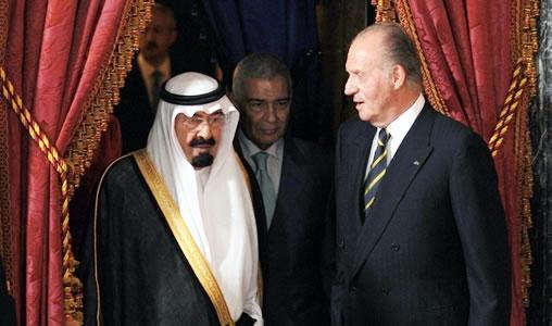 Juan carlos 1er et le roi abdallah