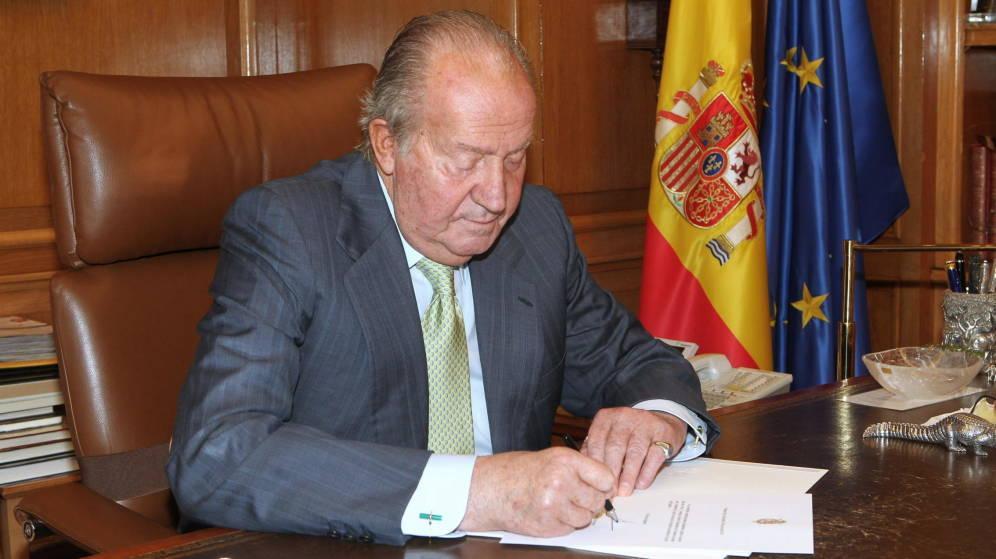 Juan carlos ier a son bureau
