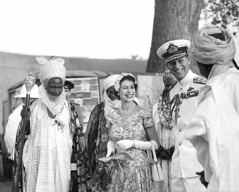 L emir muhammadu sanussi ier et Elizabeth II