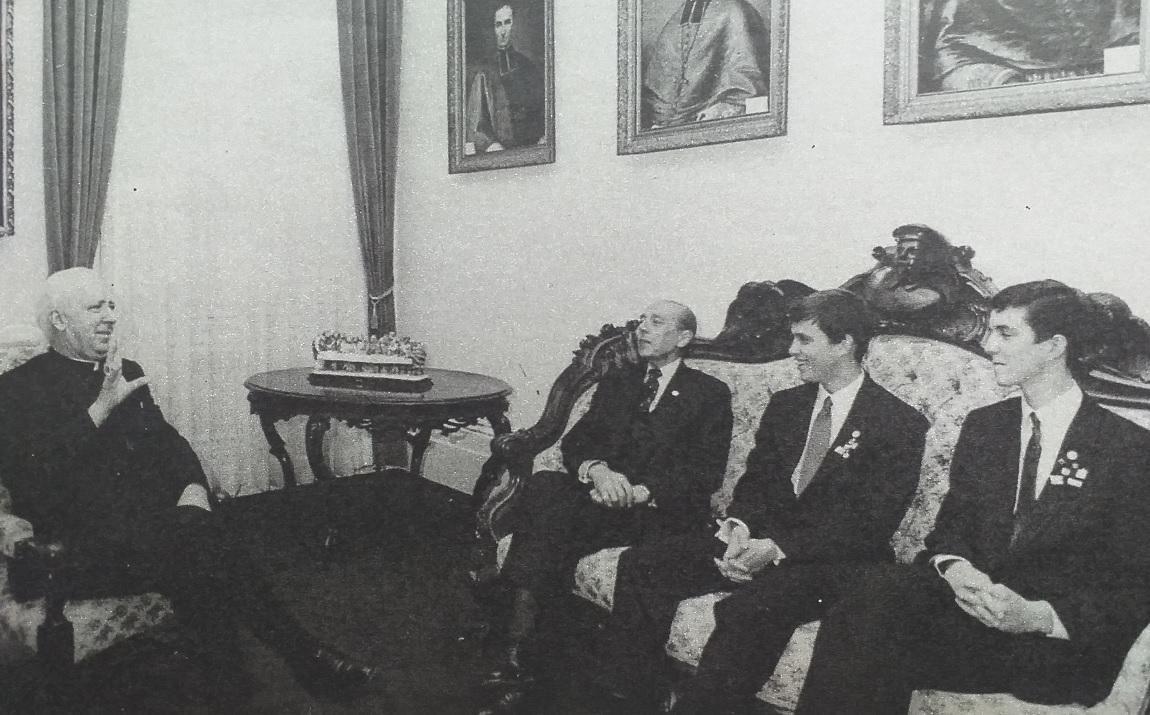 La famille royale de france recue en 1987 par la mairie de quebec