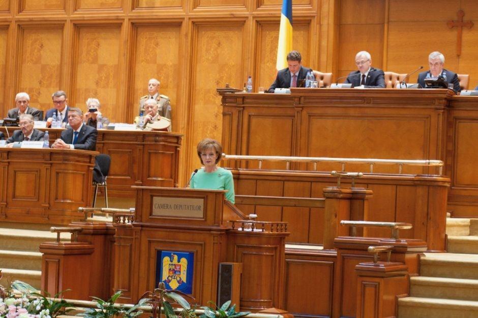 La princesse margareta s exprime au parlement