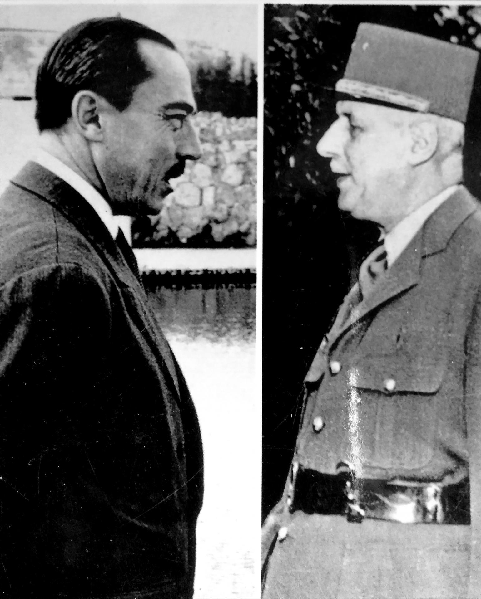 Le comte de paris et le general de gaulle