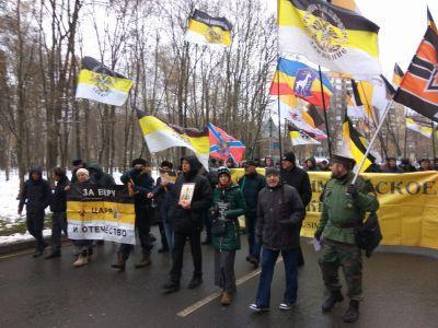 Le mouvement imperial russe parade a saint petersbourg