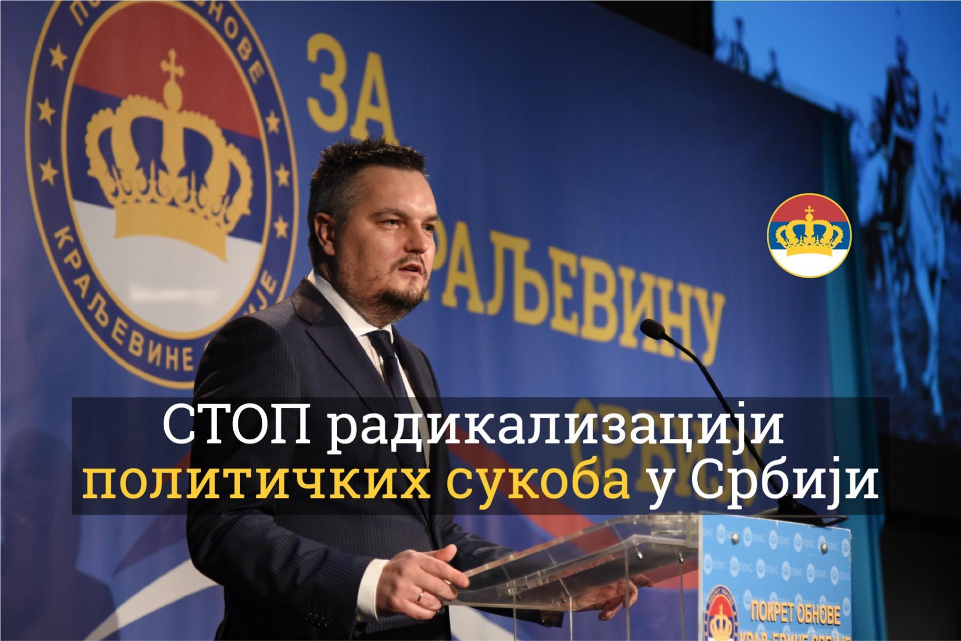 Le député POKS? Zika Gojkovic?  en campagne