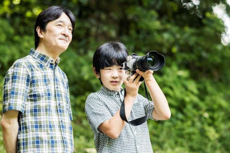 Le prince akishino et son fils le prince hisahito