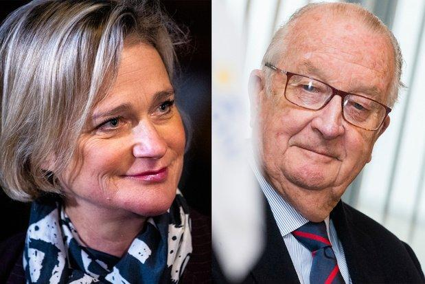 Le roi albert ii et delphine boel belga image