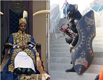 Le roi du toro et un black panther
