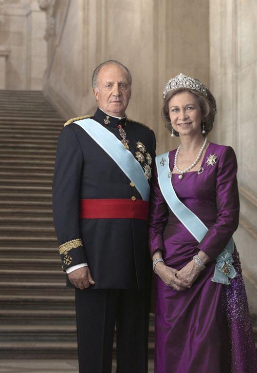 Le roi juan carlos et la reine sofia