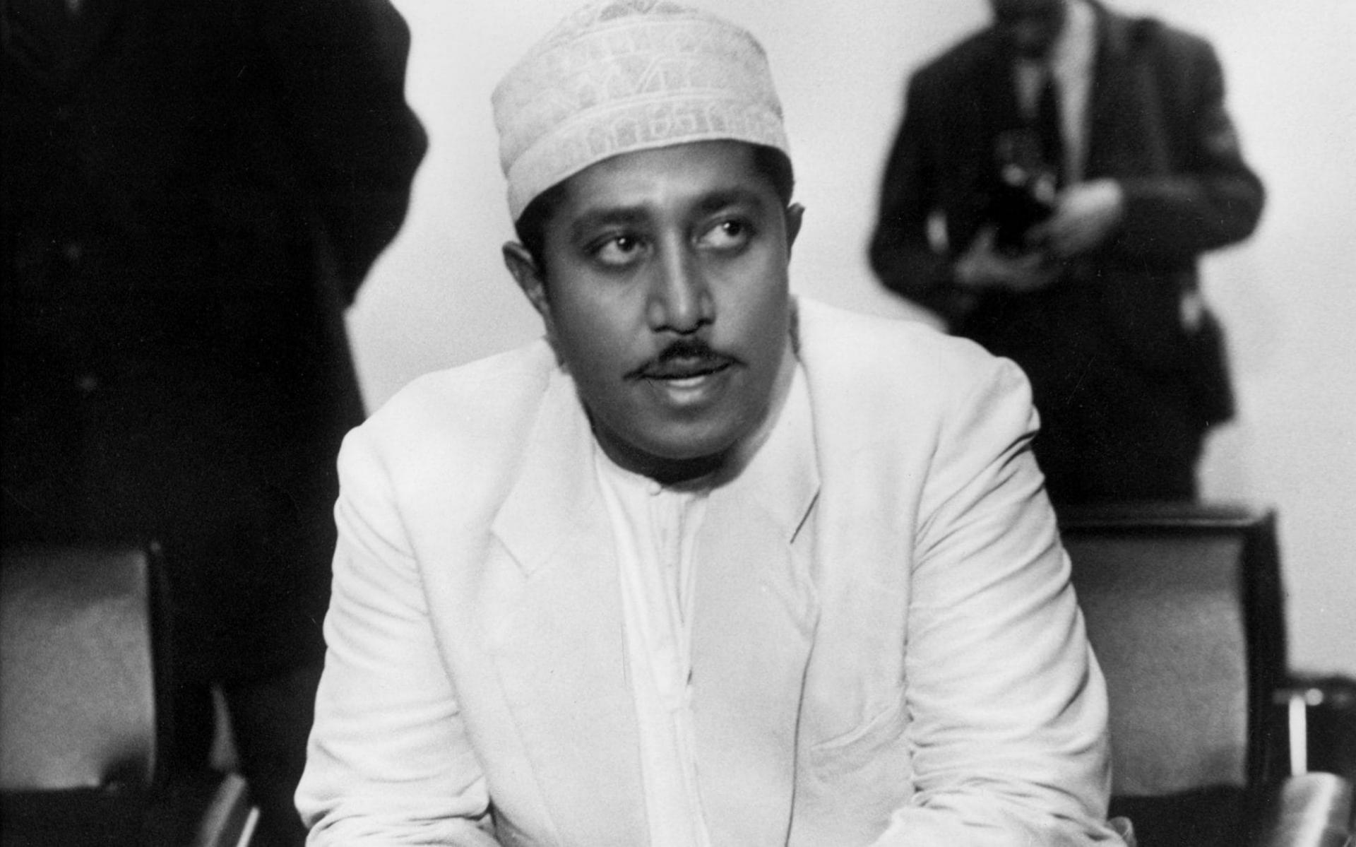 Le sultan de zanzibar en exil en 1964