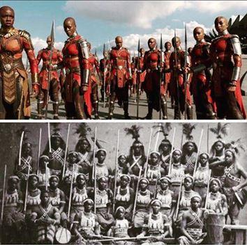 Les amazones du wakanda et du dahomey