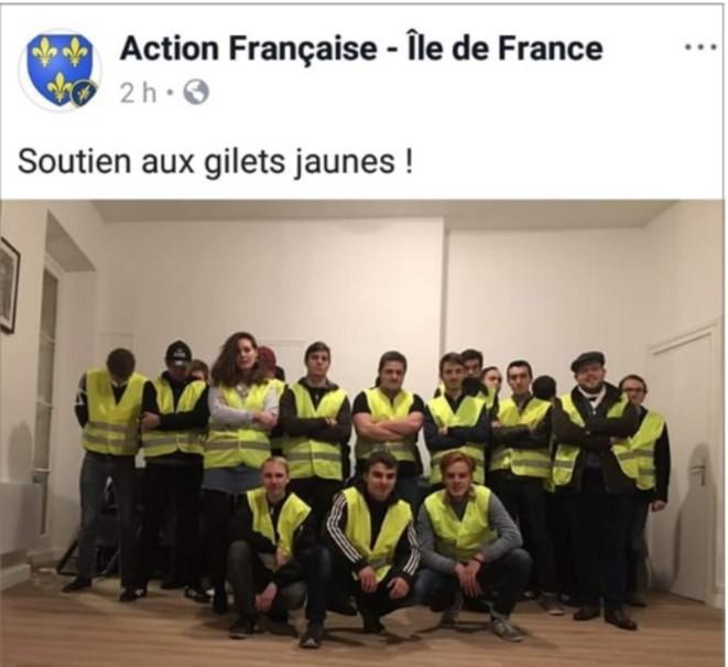 Les gilets jaunes de l action francaise