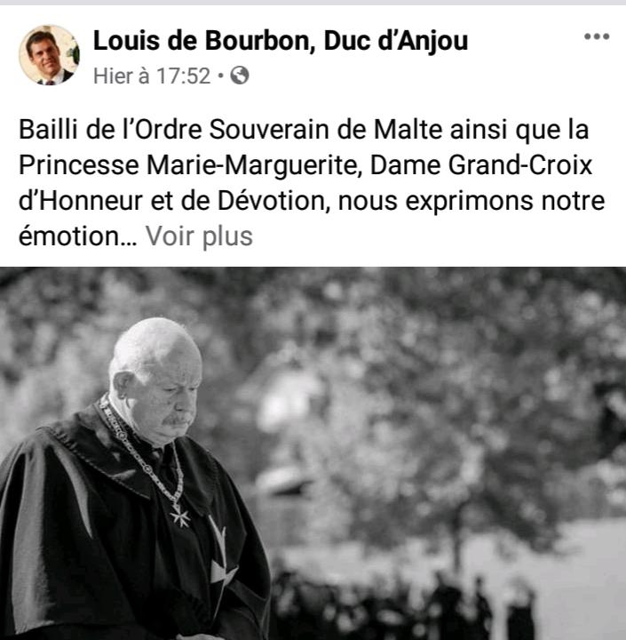 Louis de bourbon page facebook officielle