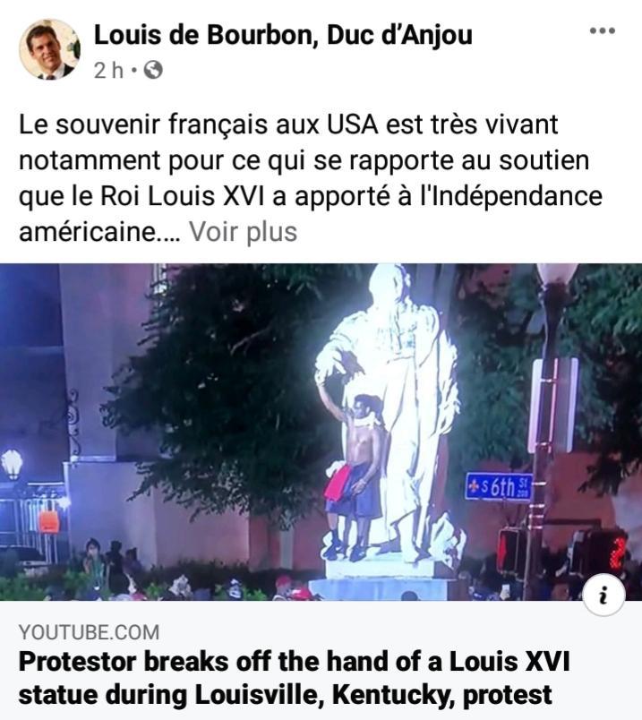 Louis de bourbon statue de louis xvi a louisville