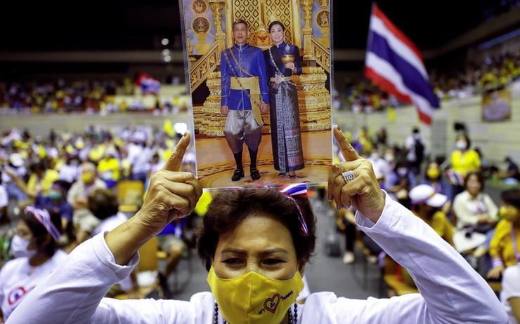 Manifestation royaliste thailande