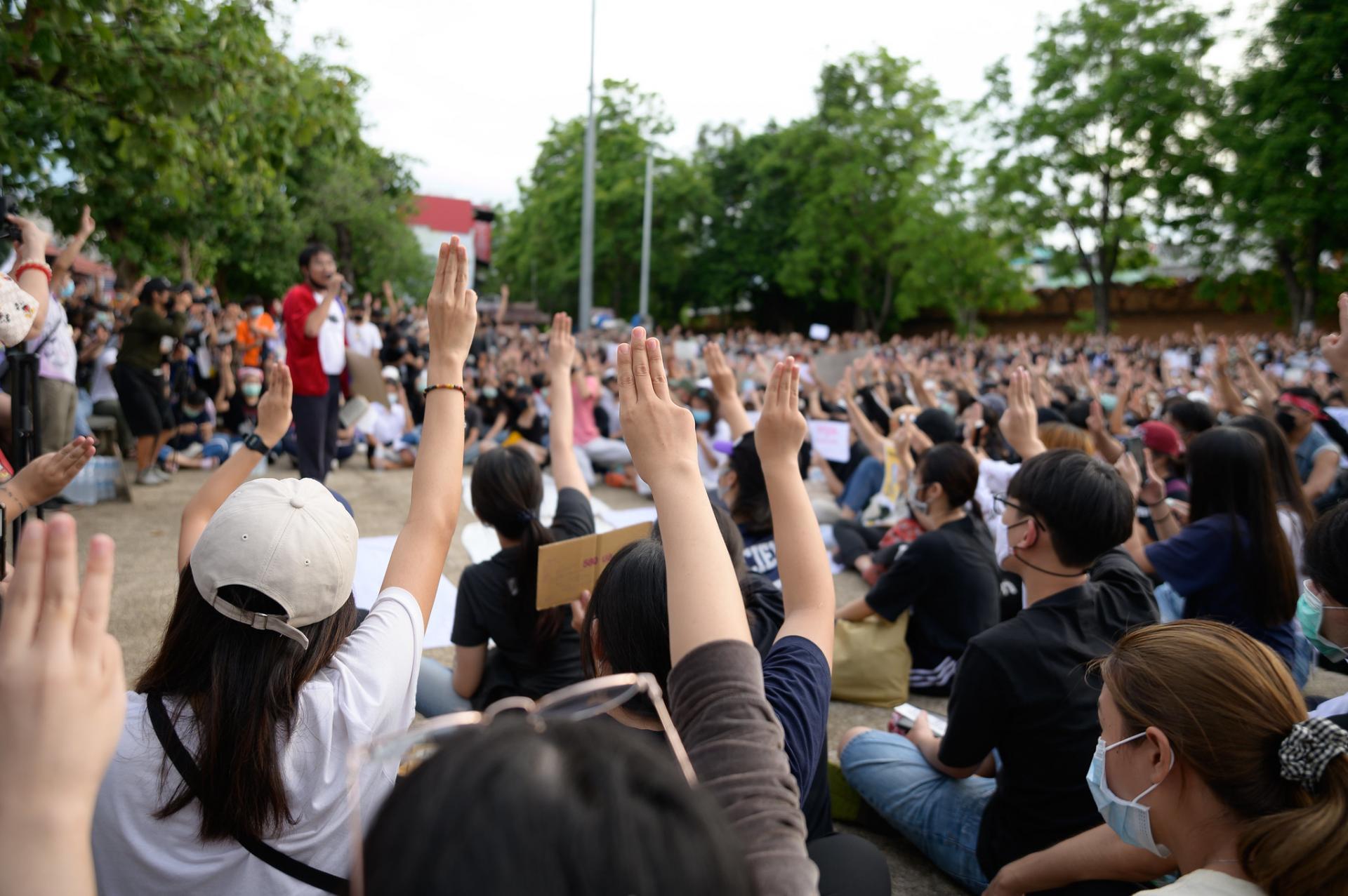Manifestations estudiantines a bangkok