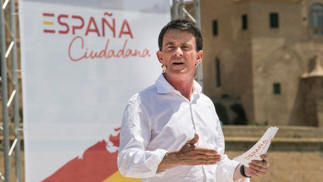 Manuel valls fait campagne pour barcelone