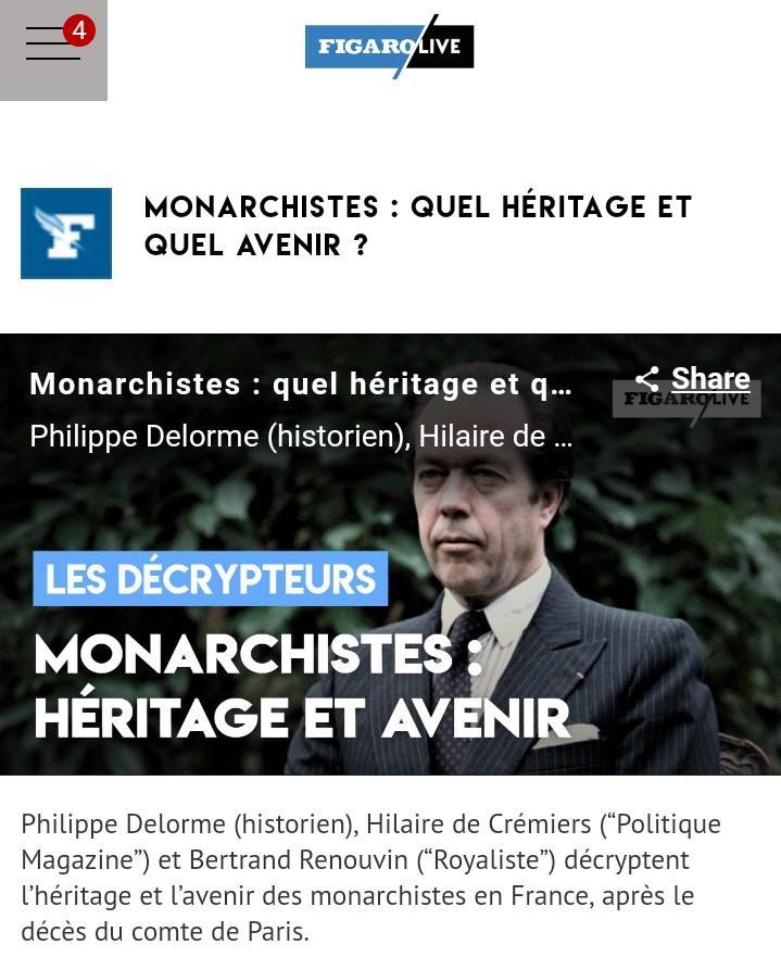 Monarchistes quel heritage