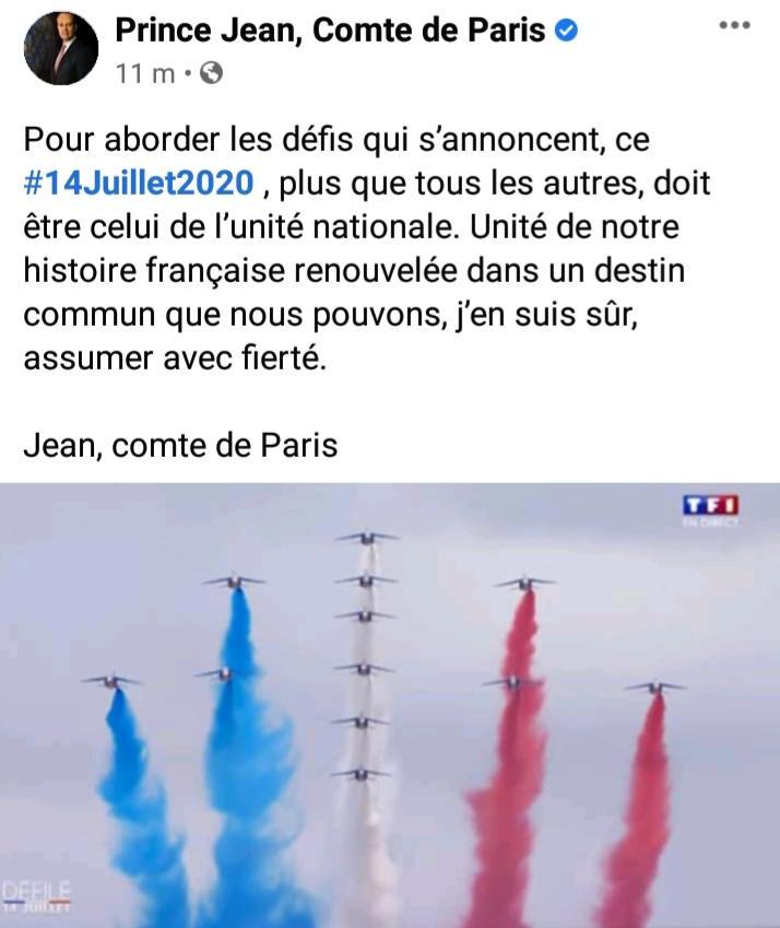 Page facebook du prince jean d orleans