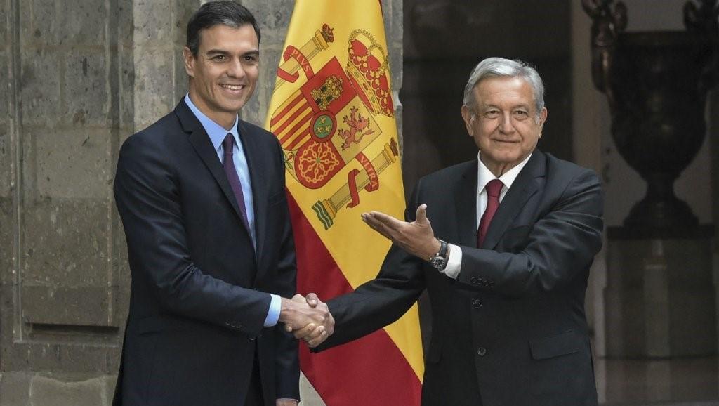 Pedro sanchez et le president obrador