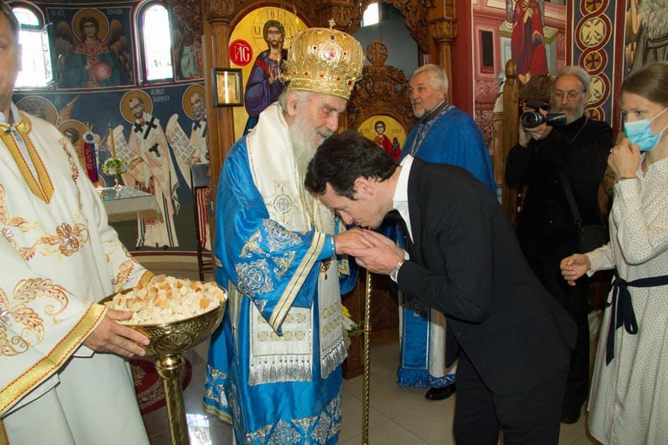 Philippe karageorgevic et les representants de l eglise serbe