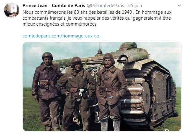Communiqué du Prince jean sur Twitter