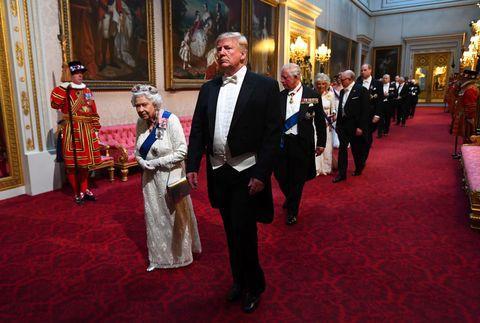 La reine Elizabeth II et le président Donald Trump